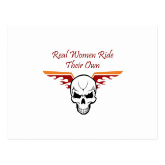 REAL WOMEN RIDE THEIR OWN POSTCARD
