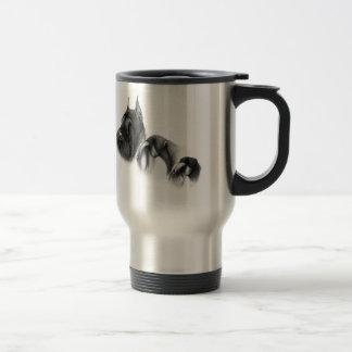 Real women show schnauzers stainless steel travel mug