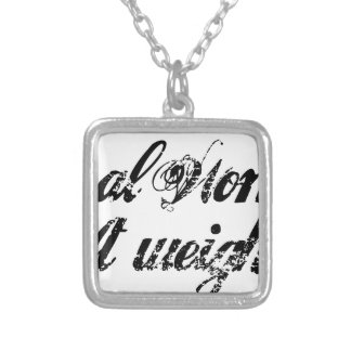 Real women square pendant necklace
