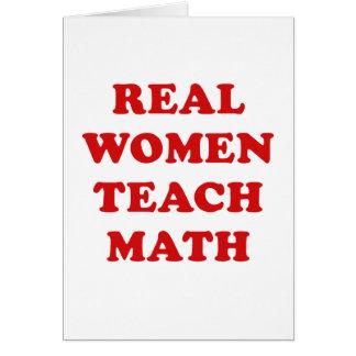 Real Women Teach Math Card