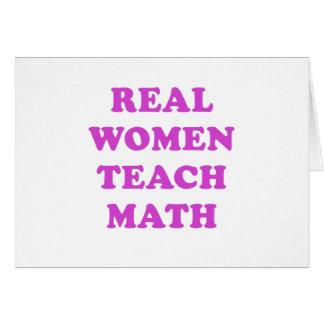 Real Women Teach Math Greeting Card
