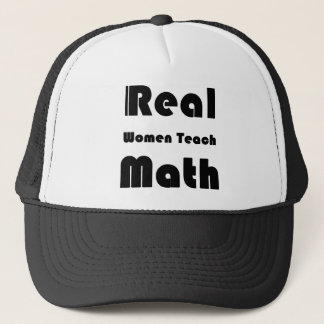 Real Women Teach Math Trucker Hat