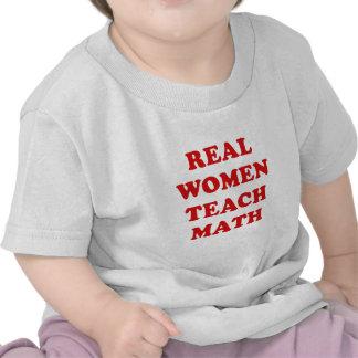 Real Women Teach Math T Shirt