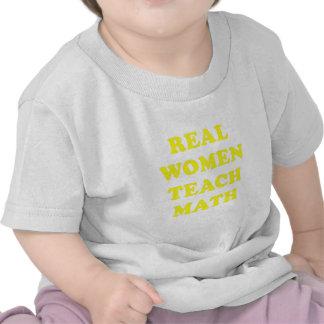 Real Women Teach Math Tshirts