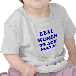 Real Women Teach Math T Shirts
