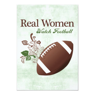 Real women watch football 13 cm x 18 cm invitation card