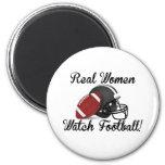 Real Women Watch Football! 6 Cm Round Magnet