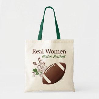 Real women watch football tote bag
