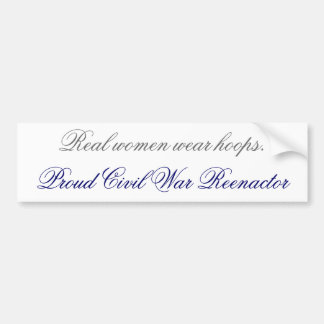 Real women wear hoops bumpersticker bumper sticker