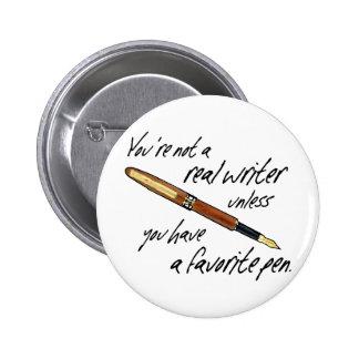 Real Writer 6 Cm Round Badge