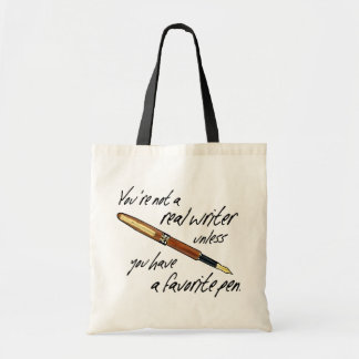 Real Writer Budget Tote Bag