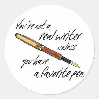 Real Writer Round Sticker
