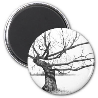 Realism Pencil Drawing 6 Cm Round Magnet