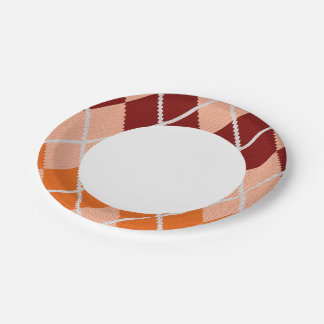 Realistic Argyle Cloth 7 Inch Paper Plate