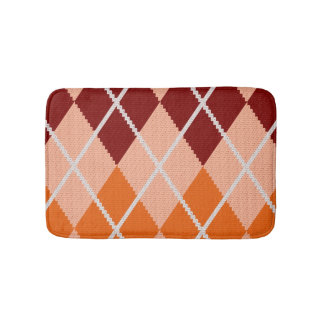 Realistic Argyle Cloth Bath Mat
