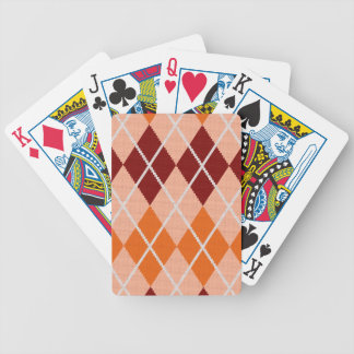 Realistic Argyle Cloth Bicycle Playing Cards