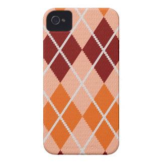 Realistic Argyle Cloth Case-Mate iPhone 4 Cases