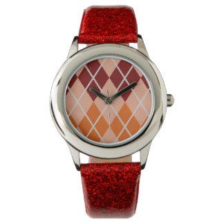 Realistic Argyle Cloth Watch