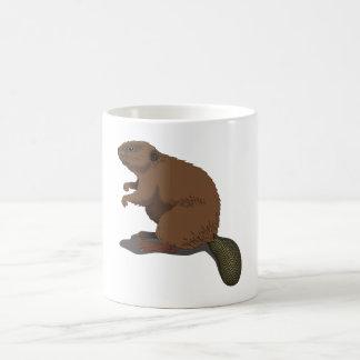 Realistic Beaver Basic White Mug