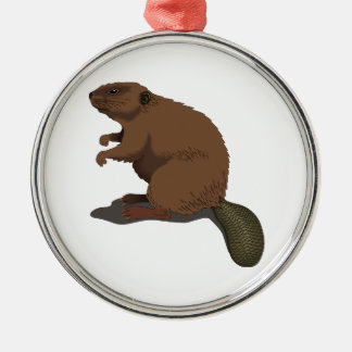 Realistic Beaver Christmas Ornament