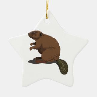 Realistic Beaver Ornament
