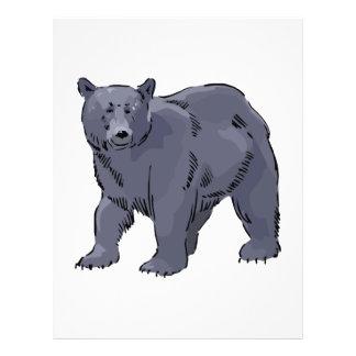 realistic black bear design flyers