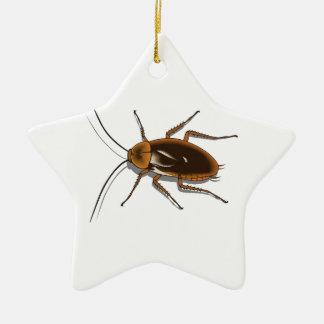 Realistic Brown Cockroach Insect Christmas Ornament