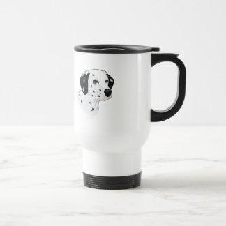 Realistic Dalmatian Dog Face Coffee Mug