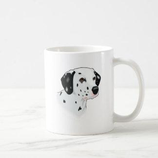 Realistic Dalmatian Dog Face Mugs