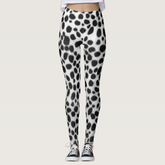 Realistic Dalmation Print Leggings