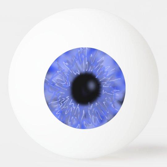 Realistic Eyeball Ping Pong Ball Blue SFX Scary