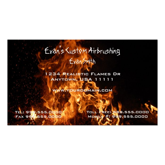 Realistic Flames Business Card