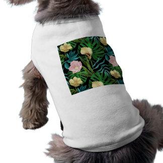 Realistic Flowers Pattern #1 Sleeveless Dog Shirt