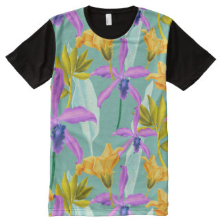 Realistic Flowers Pattern #3 All-Over Print T-Shirt