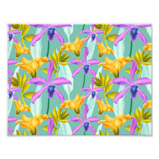 Realistic Flowers Pattern #3 Photographic Print