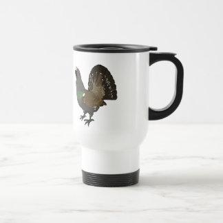 Realistic Grouse Bird Stainless Steel Travel Mug