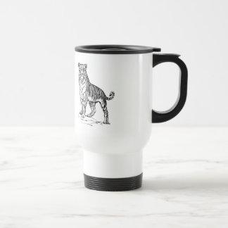 Realistic Hand Drawn Tiger Facing Forward Mugs