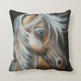 Realistic horse throw cushion