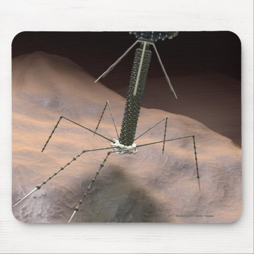 Realistic Illustration of bacteriophage Mousepad