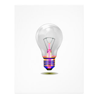 realistic lightbulb with colored base png flyer