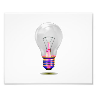 realistic lightbulb with colored base.png photographic print