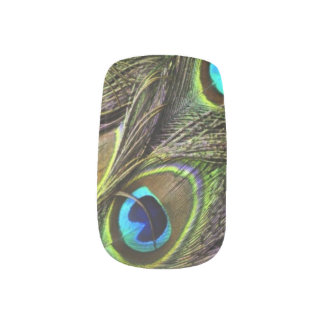Realistic Peacock Feather Nails Minx Nail Art