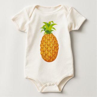 Realistic Pineapple Fruit Baby Bodysuit