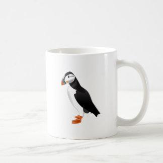 Realistic Puffin Bird Basic White Mug