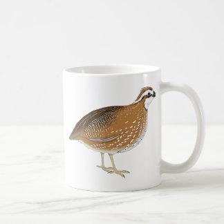 Realistic Quail Bird Basic White Mug