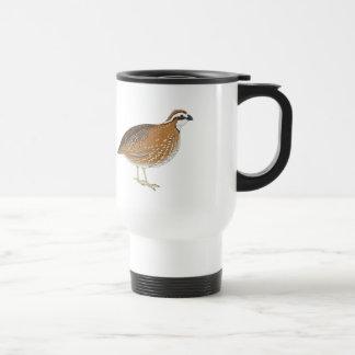 Realistic Quail Bird Stainless Steel Travel Mug