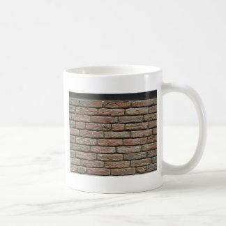 Realistic Red Brick Pattern Basic White Mug