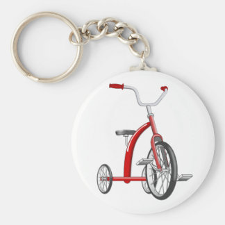 Realistic Red Tricycle Keychain