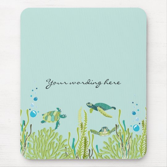 Realistic Sea Turtle Mouse Pad