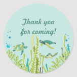 Realistic Sea Turtles Customisable Party Favour Round Sticker